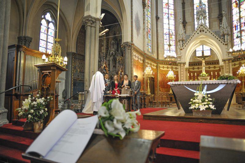 reportage mariage à l'église Talence