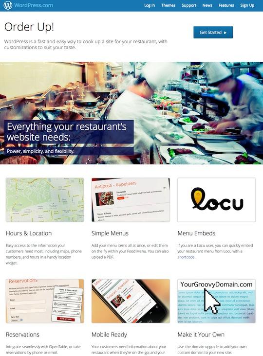 WordPress-Restaurants