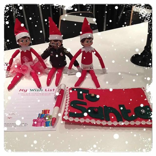 Elf on the Shelf Antics - Bringing the Christmas Wish List for Santa