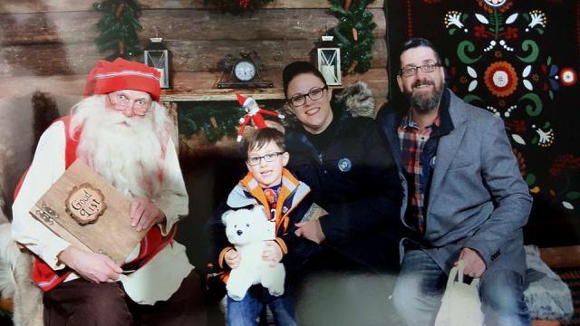 Elf following us to see Santa