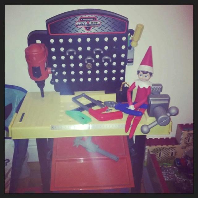 Elf Doing DIY - elf on the shelf ideas for kids