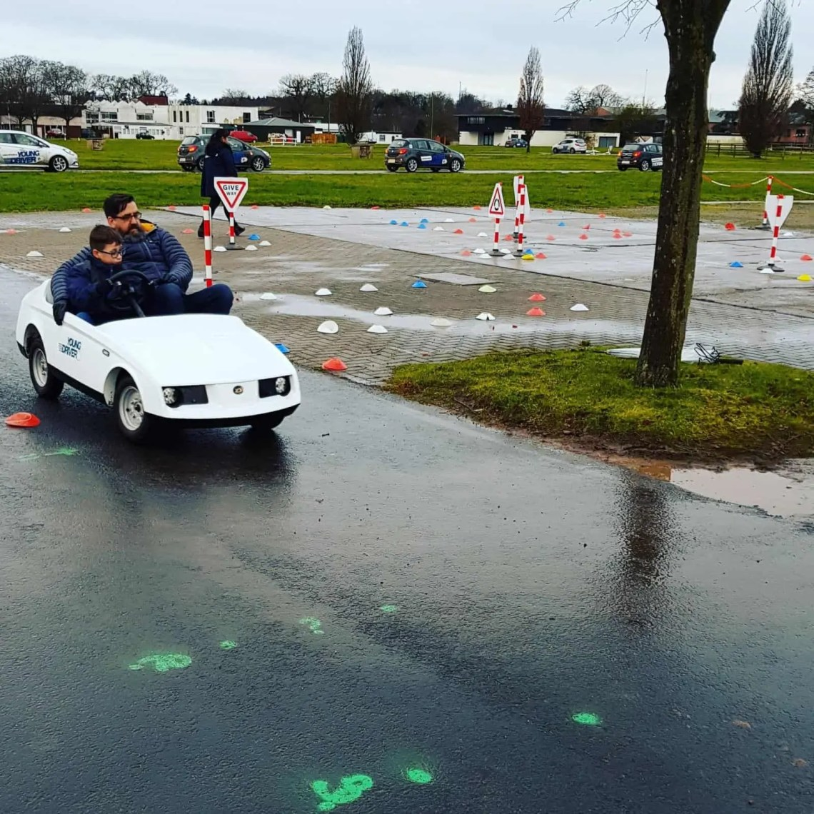 Driving Lesson at 8 years old