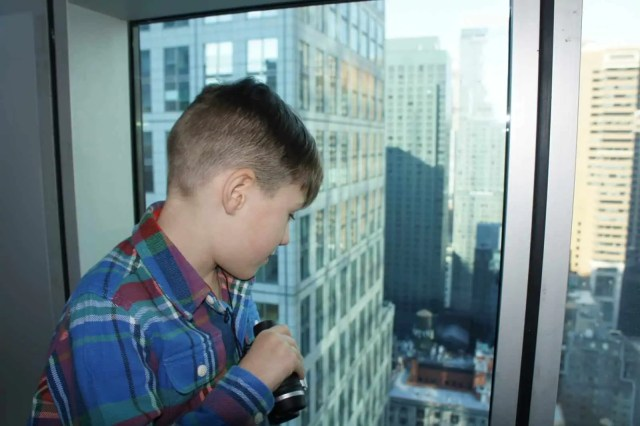 The view over Times Square at Hilton Garden Inn New York