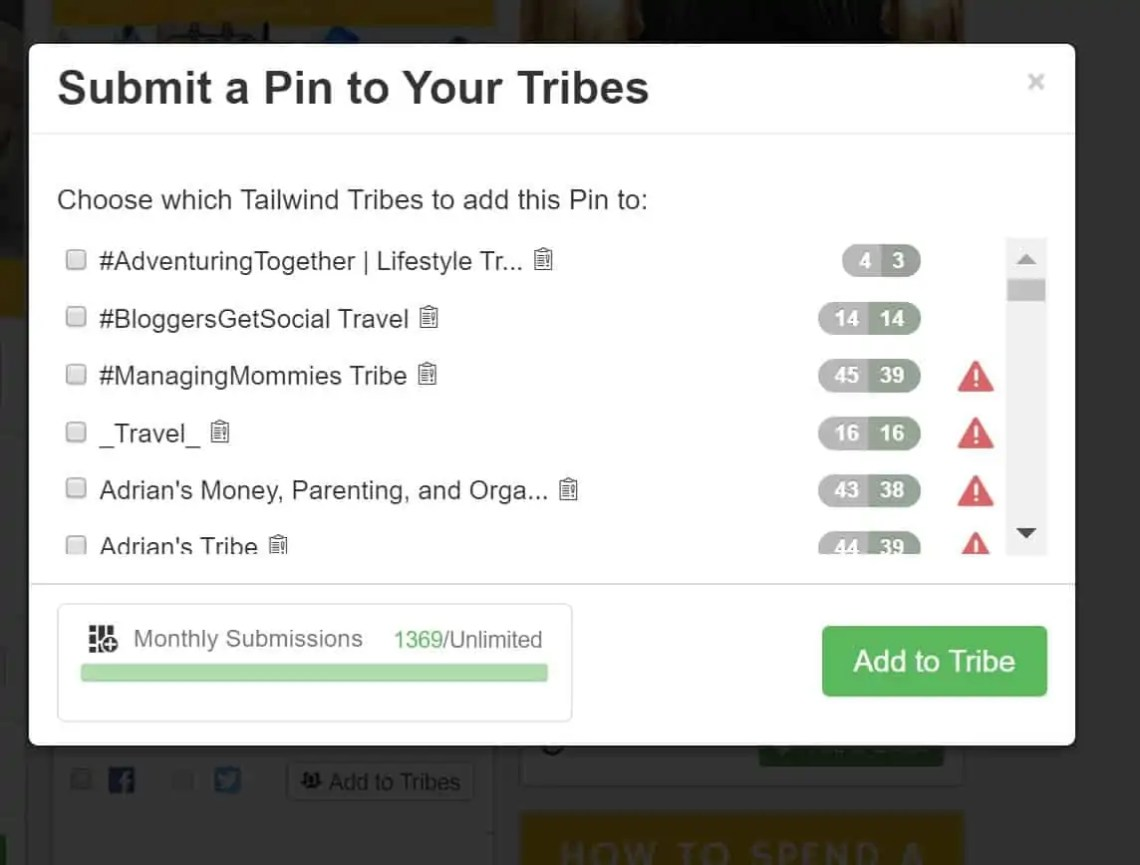 Submit a pin to your tribes