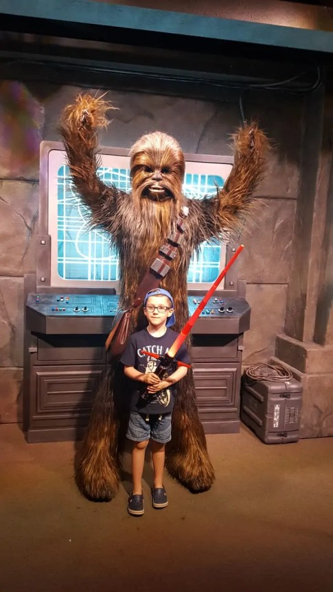 Meeting characters at Hollywood Studios Orlando Florida