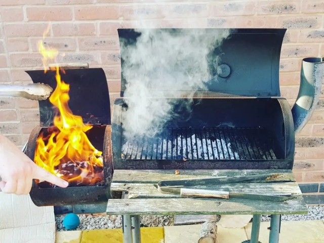 Getting the BBQ ready for slimming world bbq