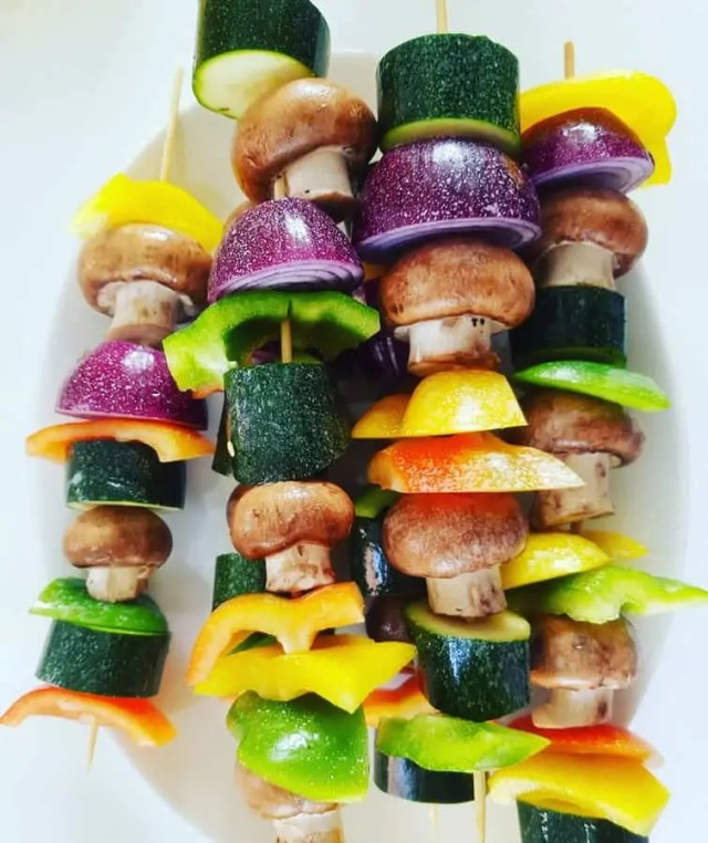 Vegetable Skewers for a healthy BBQ #bbq #bbqweek