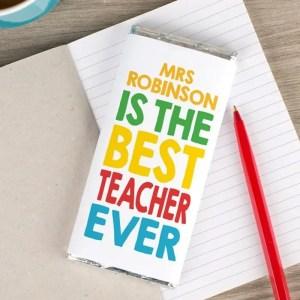 Personalised Chocolate Bar Best Teacher Ever