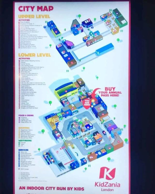 Kidzania London City Map