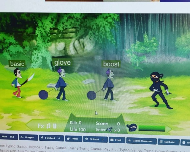 Free Typing Games for Kids - Kidztype Ninja