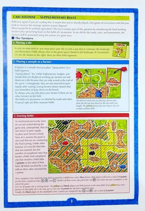 Carcassonne Game Review Instructions