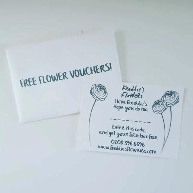 Freddies Flowers Subscription Box Vouchers