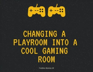 Changing a Playroom into a cool gaming room for boys