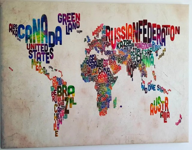 World Map for gaming room