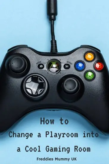 How to change a Playroom into a cool gaming room for boys #gameroom #playroom #gaming #interiordesign