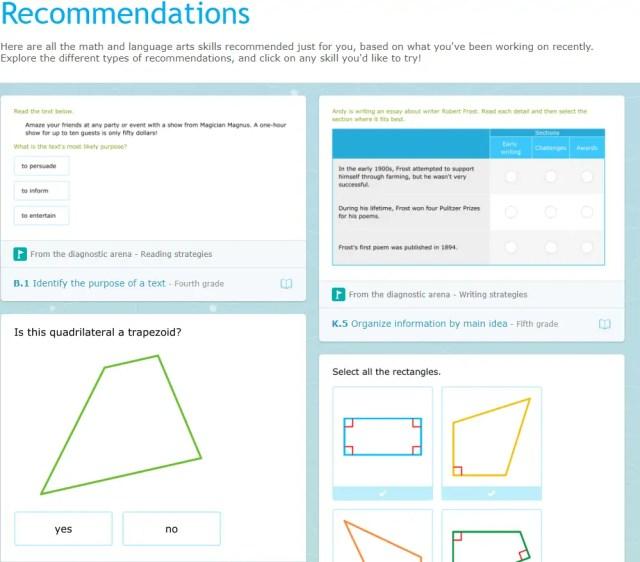 IXL recommendations