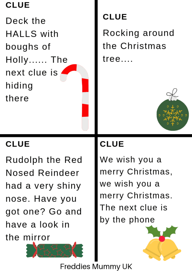 Treasure Hunt Clues - Printables