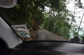 Route dans la Morne seychellois