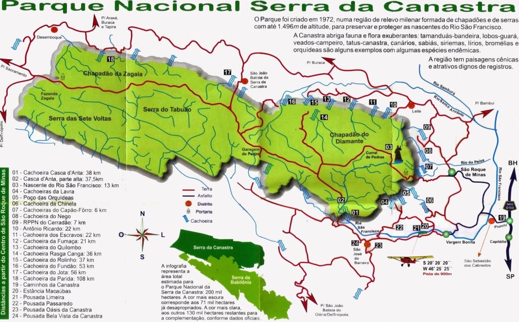 mapa serra da canastra