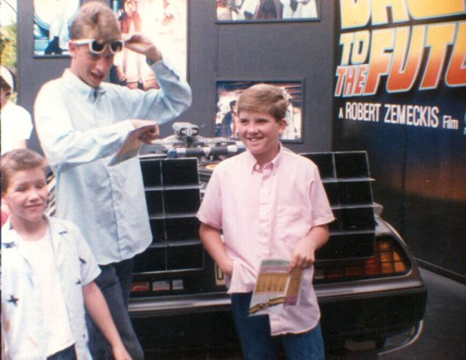Back to the Future DeLorean at Universal Studios Hollywood - 1985