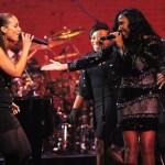 Alicia Keys & Melanie Fiona Performes At The Apollo Theater
