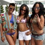 Some Weekend Wetness Eva Marcille, Teairra Mari, Hazel-E, & Quincy Hit Up Miami Beach