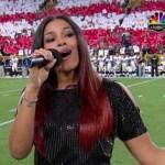 Jordin Sparks Performs 'The Star Spangled Banner' For NFL Kickoff Game
