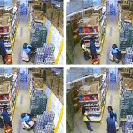 Security Cam Catches Woman Trying To Steal 20-Pound Case of Beer In Dress {Video)