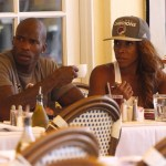 Chad Johnson and Actress AJ Johnson Lunch Date