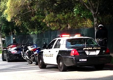 EXCLU Chris Brown gets a speeding ticket