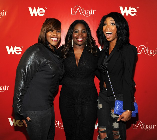Kelly Price, Kim Kimble, and Brandy at WE tv's LA HAIR Season 2 Premiere-Party-Freddy-O