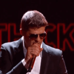 "Robin Thicke Performs ""Blurred Lines"" At The 2013 BET Awards"