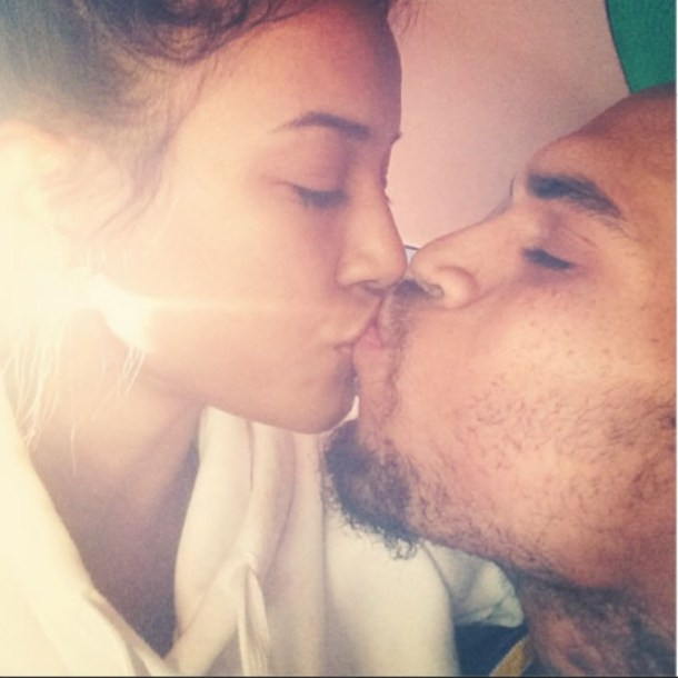 Karrueche-Tran-and-Chris-Brown-kissing-Instagram