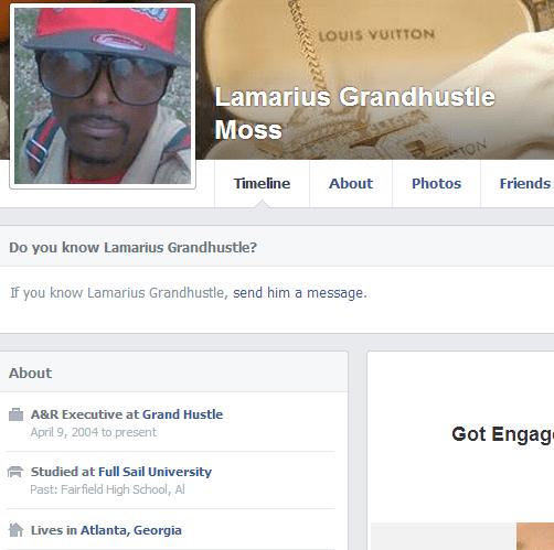 Lamarius Moss Fake Grand Hustle Facebook