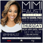 #LHHATL Mimi Faust Hosts Back-to-School Supply Drive at Tees and Quotes on Thursday, July 31, 2014!