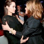 #AWKWARD! Angelina Jolie Glares at Sony Exec Amy Pascal After Leaked Diss!
