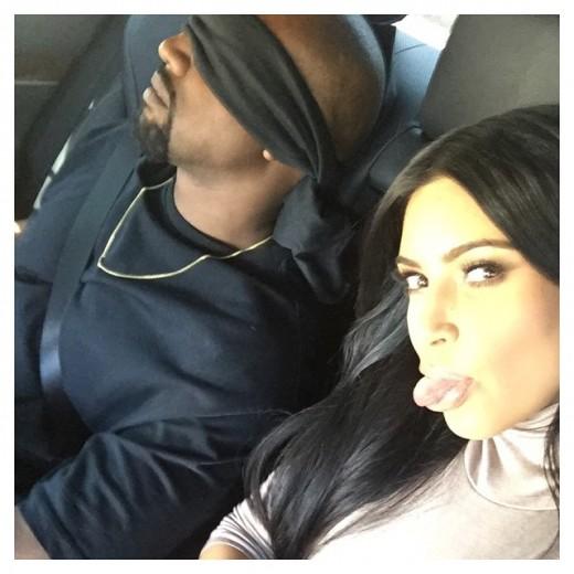 Kim Kanye Birthday Surprise