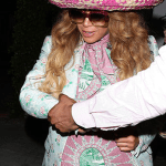Beyonce Rocks Sombrero Leaving Restaurant with Kelly Rowland on Cinco De Mayo