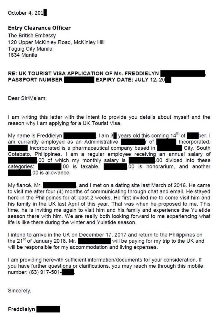 applicant s cover letter sample for uk