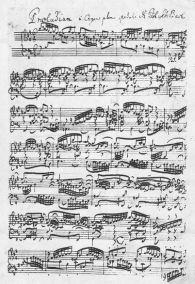 Partition manuscrite de J.S Bach