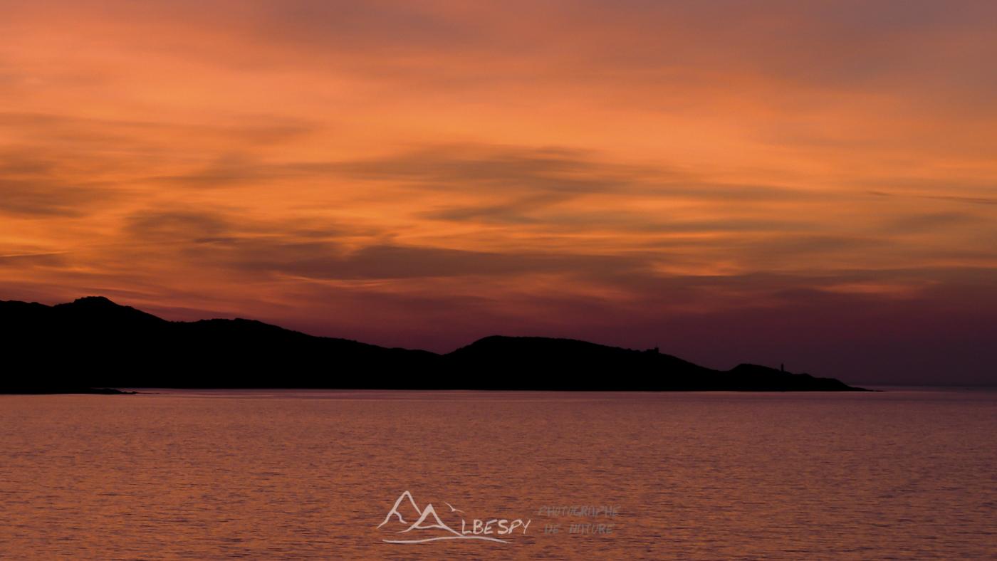 Coucher de soleil sur la Méditerranée (Corse) n°0418