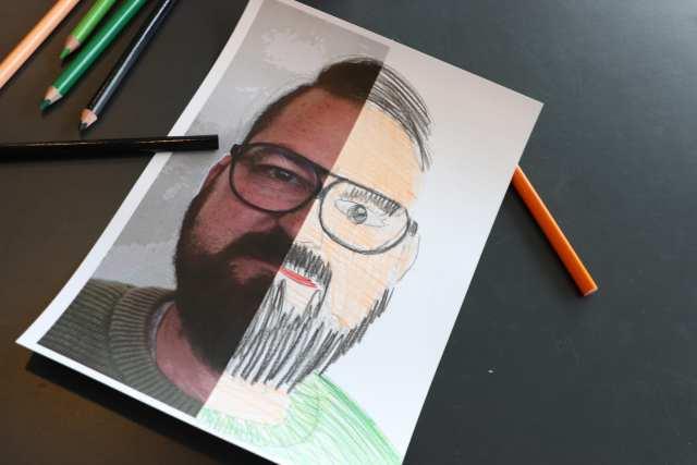 Tegn dit fotoportræt