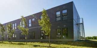 Det er moduler som disse, der vil være rammerne om skolehjemmet hos EUC Lillebælt.