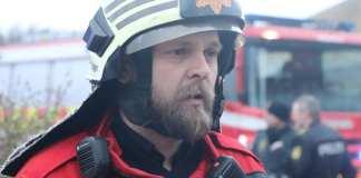 Indsatsleder Ulrik Strehle. Foto: Thomas Lægaard, Fredericia AVISEN.