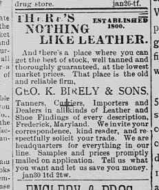 """Birely Tannery """"not only contributing but of unusual"""