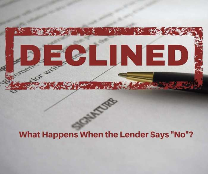 What to Do When the Lender Says No