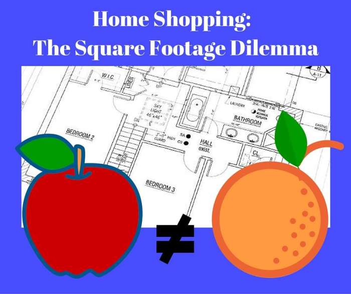 Home Shopping:  The Square Footage Dilemma