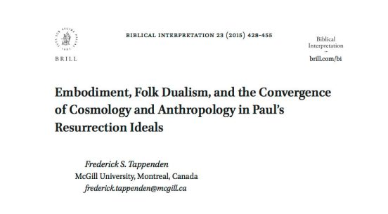 Tappenden - BI23 - Cosmology and Anthropology
