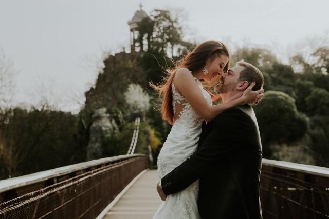 couple de maries passerelle ile du belvedere