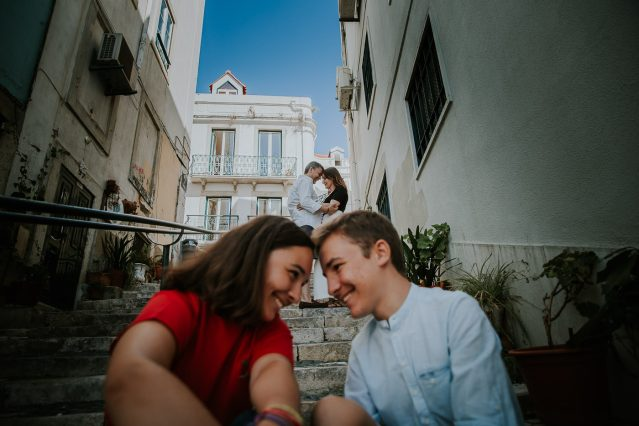Portrait de famille à Lisbonne photographe Frederico Santos